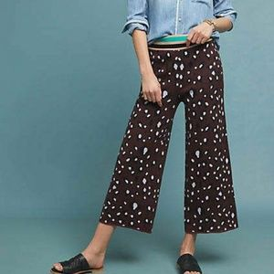 Anthropologie Purple Leopard Print Knit Pants